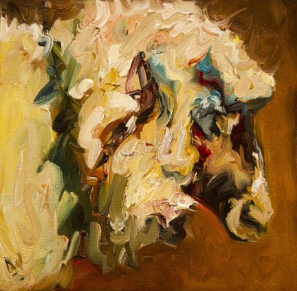 """DAILY PAINTING SEPTEMBER 13 SHEEP LAMB ANIMAL ARTOUTWEST ORIGINAL ART"" original fine art by Diane Whitehead"