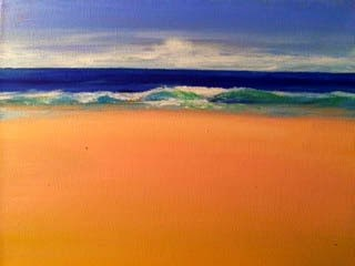 """Contemporary Seascape Painting , Color Study Complexity by Contemporary International Artist Arrac"" original fine art by Arrachme Art"