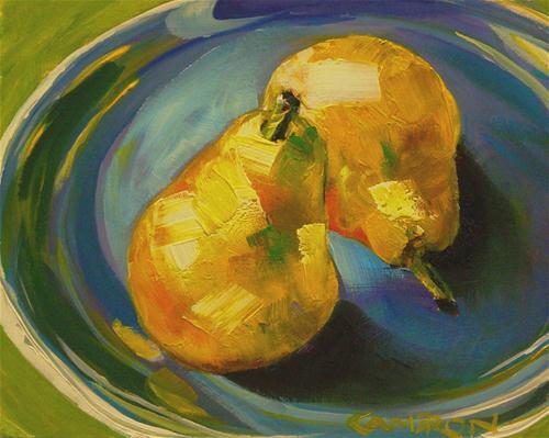 """PLATE O' PEARS"" original fine art by Brian Cameron"