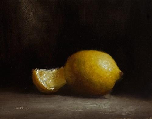 """Lemon Quarter"" original fine art by Neil Carroll"