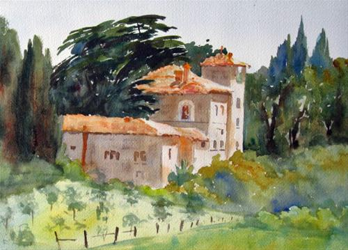 """2012 Painting Workshop in Tuscany"" original fine art by Pat Fiorello"