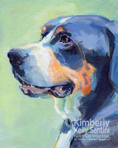 """Bailey"" original fine art by Kimberly Santini"