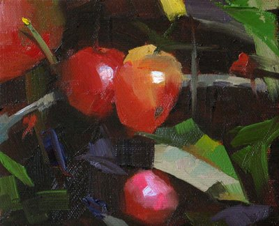 """Schmid's Tomato --- Sold"" original fine art by Qiang Huang"