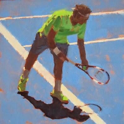 """TENNIS - Australian Open #2"" original fine art by Helen Cooper"