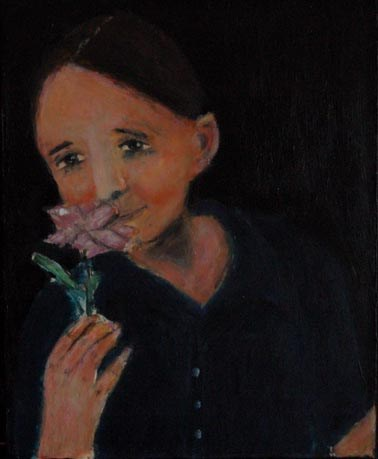 """Boys Like Flowers, Too"" original fine art by Katie Jeanne Wood"