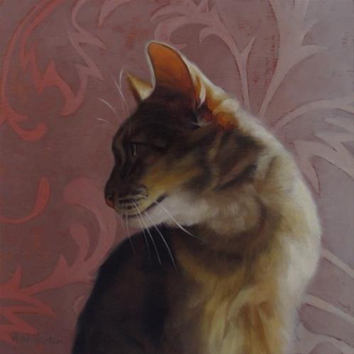 """Taz, a cat painting"" original fine art by Diane Hoeptner"