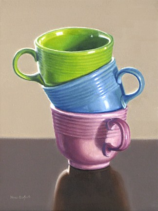 """Three Fiesta Cups"" original fine art by Nance Danforth"