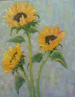 """Sunflowers"" original fine art by Maggie Flatley"