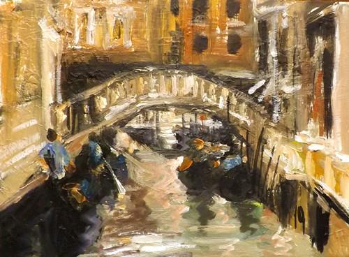 """Venice,U27"" original fine art by Run-      Zhang Zane"