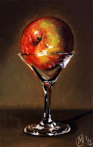 """Apple Martini 2"" original fine art by Maurice Morgan II"