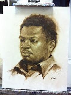 """""""Demetrius"""" original fine art by Michael Naples"""
