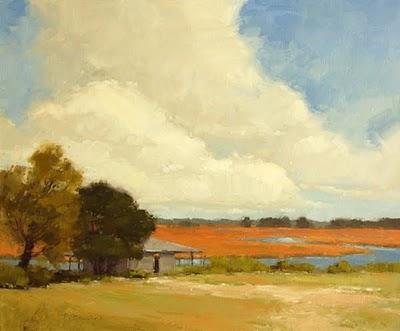 """Creek Stop (enlarged)"" original fine art by Laurel Daniel"