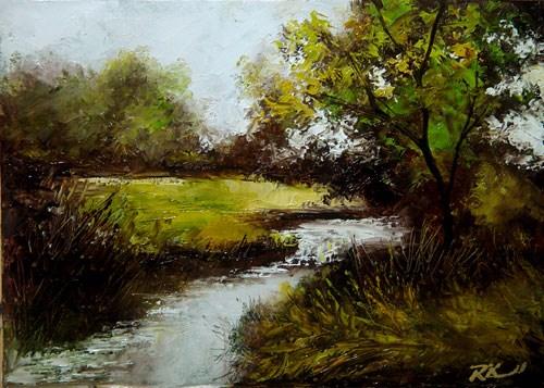 """Prairie Stream"" original fine art by Bob Kimball"