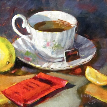 """Lemon for Your Tea?"" original fine art by Linda K Smith"