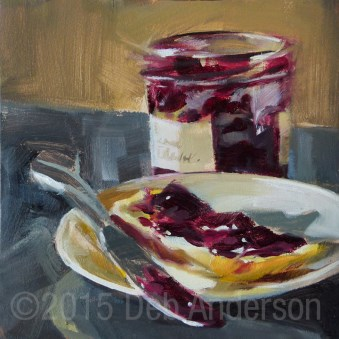 """Oil Painting: Bread and Jam"" original fine art by Deb Anderson"