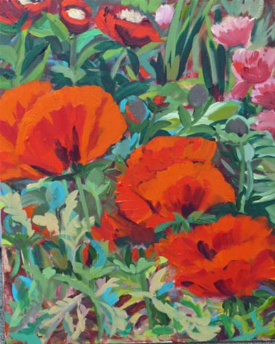 """Beacon Hill Park Poppies"" original fine art by Darlene Young"
