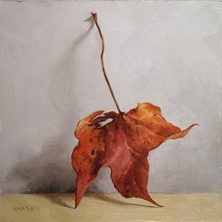 """Leaning Leaf"" original fine art by Michael Naples"