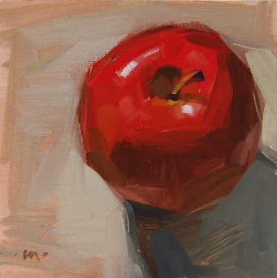 """Lone Apple"" original fine art by Carol Marine"