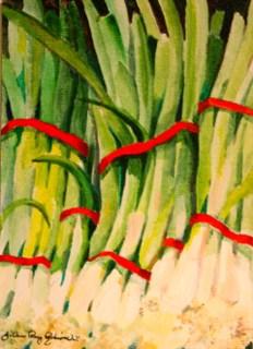 """Lean and Green"" original fine art by JoAnne Perez Robinson"
