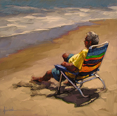 """Front Row Seat"" original fine art by Karin Jurick"