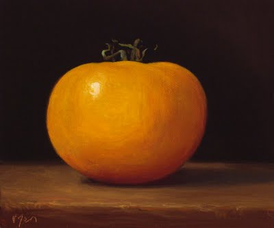 """Yellow Tomato"" original fine art by Abbey Ryan"