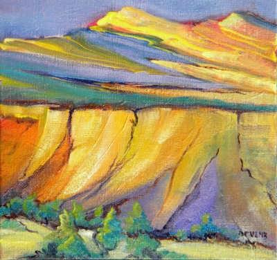 """Canyon Dreams 33"" original fine art by Pam Van Londen"
