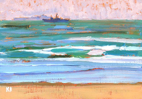"""Troop Ships off Coronado"" original fine art by Kevin Inman"