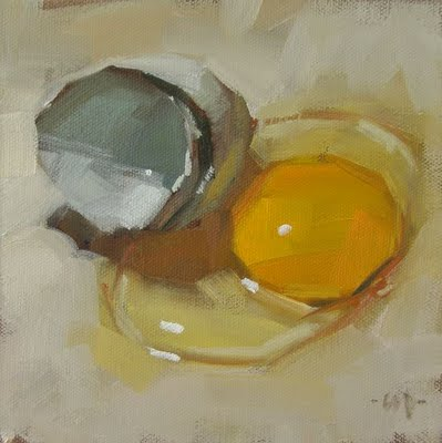 """Egg Bubble"" original fine art by Carol Marine"