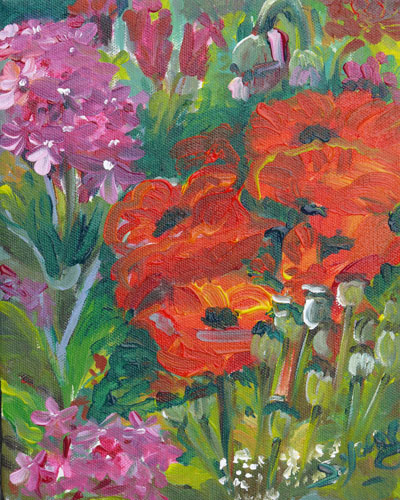 """Poppy Team"" original fine art by Darlene Young"
