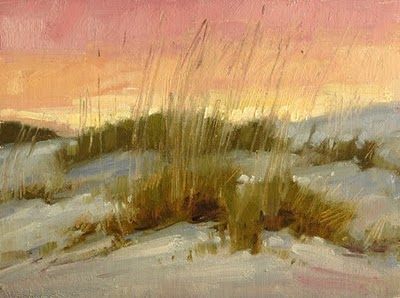 """Sea Oats At Dusk"" original fine art by Laurel Daniel"