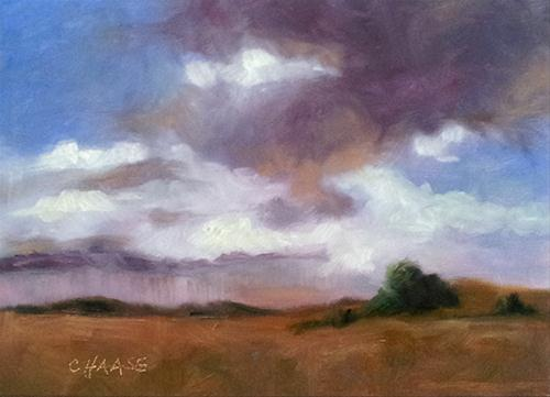 """Prairie Storm"" original fine art by Cindy Haase"