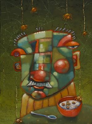 """""""Along Came A Spider"""" original fine art by Brenda York"""
