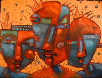 """Three Wise Guys, #1"" original fine art by Brenda York"