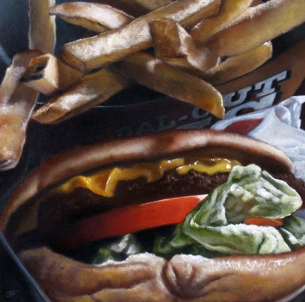 """Hamburger Study: Carl's Jr."" original fine art by Jelaine Faunce"