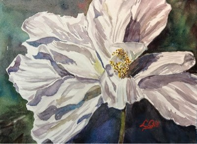"""Day 16 - Study in White 3"" original fine art by Lyn Gill"