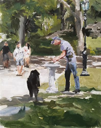"""""""Central Park"""" original fine art by James Coates"""