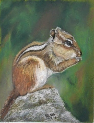 """Chippie"" original fine art by Nelvia McGrath"