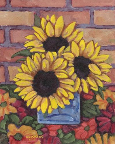 """Sunflowers No. 7"" original fine art by Randal Huiskens"