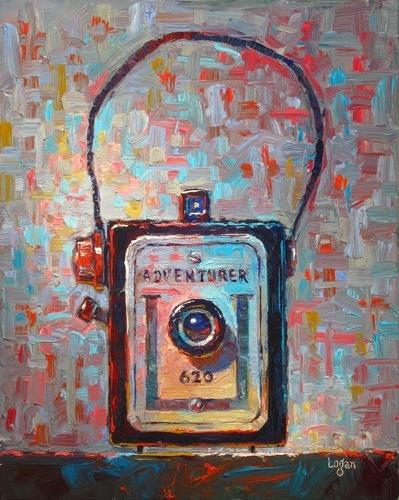 """Adventurer 620 Camera"" original fine art by Raymond Logan"