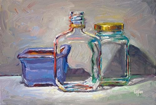 """Bonsai, Cognac, and Some Sort of Jam or Jelly"" original fine art by Raymond Logan"