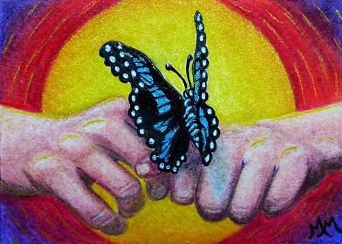 """Faith Trust Unity"" original fine art by Monique Morin Matson"