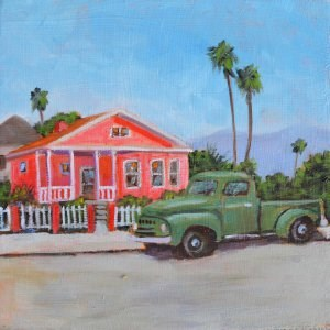 """Pepto Bismol House"" original fine art by Robert Frankis"
