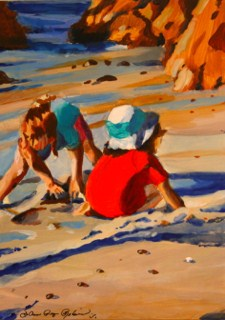 """Girlfriends"" original fine art by JoAnne Perez Robinson"