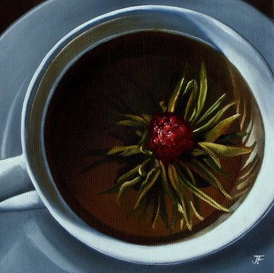 """Flowering Tea Study"" original fine art by Jelaine Faunce"