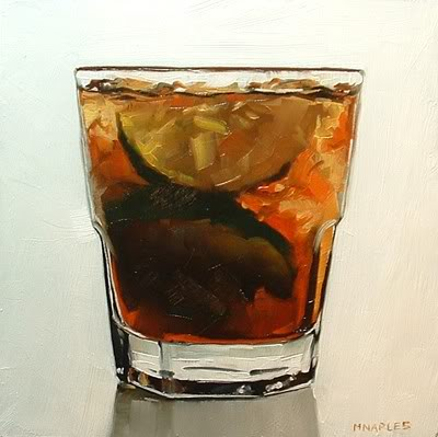 """Holiday Drink No.2"" original fine art by Michael Naples"
