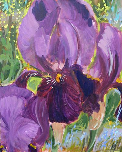"""James Bay Iris"" original fine art by Darlene Young"