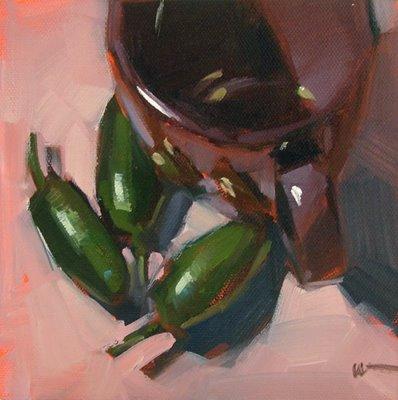 """No Personal Space"" original fine art by Carol Marine"