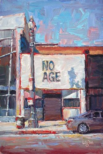 """NO AGE."" original fine art by Raymond Logan"