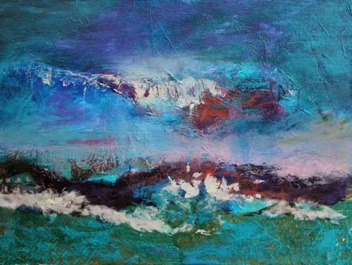 """Abstract Seascape, Contemporary Paintings by Arizona Artist Amy Whitehouse"" original fine art by Amy Whitehouse"