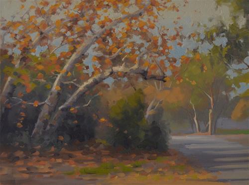 """Autumn Day"" original fine art by John White"